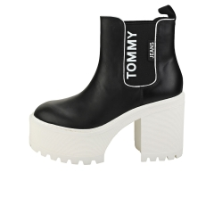 Tommy Jeans CHELSEA CLEATED HEEL Women Chelsea Boots in Black White