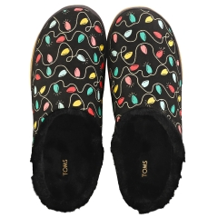 Toms IVY HOLIDAY LIGHTS Women Slip On Shoes in Black Multicolour