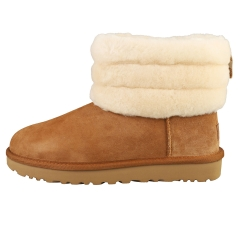 UGG FLUFF MINI QUILTED Women Classic Boots in Chestnut