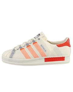 adidas CG SUPERSTAR Unisex Fashion Trainers in Off White Red
