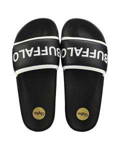 Buffalo JOLA Women Slide Sandals in Black White