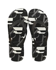 Calvin Klein MONOGRAM Men Beach Sandals in Black