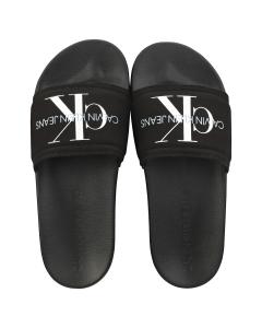 Calvin Klein MONOGRAM Women Slide Sandals in Black
