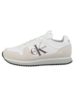 Calvin Klein RUNNER SOCK LACE UP Men Fashion Trainers in White