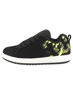 DC Shoes COURT GRAFFIK Kids Skate Trainers in Black Yellow
