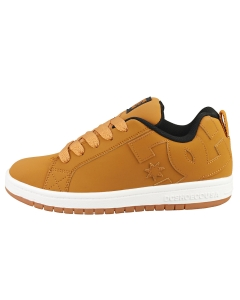 DC Shoes COURT GRAFFIK Kids Skate Trainers in Wheat White