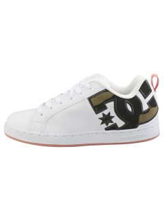 DC Shoes COURT GRAFFIK SE Women Skate Trainers in White Camouflage
