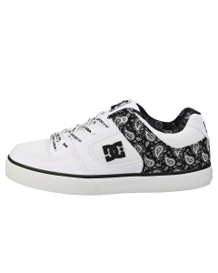 DC Shoes PURE TX SE Men Skate Trainers in Black White Silver