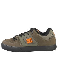 DC Shoes PURE WNT Men Skate Trainers in Olive Orange