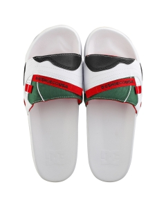 DC Shoes WILLIAMS Men Slide Sandals in White Red