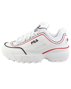 Fila DISRUPTOR 2 CONTRAST PIPING Women Fashion Trainers in White Navy Red