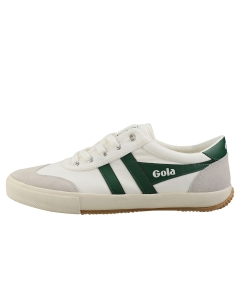 Gola BADMINTON Men Casual Trainers in Off White Green