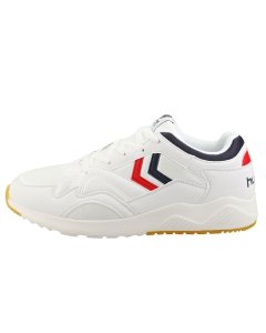 hummel EDMONTON Men Casual Trainers in White Blue Red