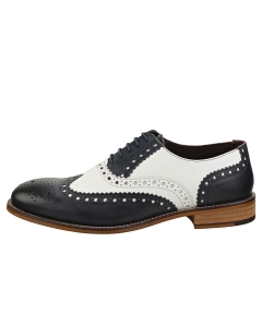 London Brogues GATSBY Men Brogue Shoes in Navy White