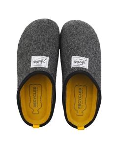 Mercredy SLIPPER BLACK YELLOW Women Slippers Shoes in Black Yellow
