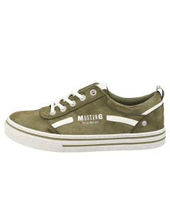 Mustang JEANS LOW TOP Women Casual Trainers in Olive