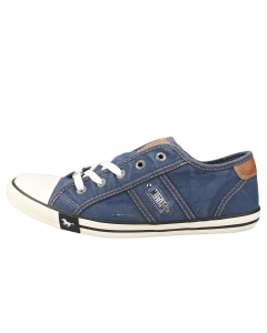 Mustang LACE UP LOW TOP Women Casual Trainers in Jeans Blue