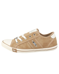 Mustang LACE UP LOW TOP Women Casual Trainers in Taupe