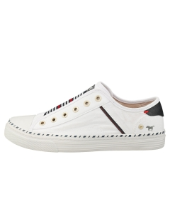 Mustang LACE UP LOW TOP Women Casual Trainers in White Blue