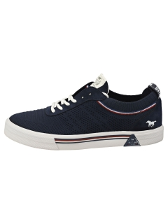 Mustang LACE UP LOW TOP Women Casual Trainers in Dark Blue