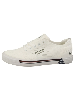 Mustang LACE UP LOW TOP Women Casual Trainers in White