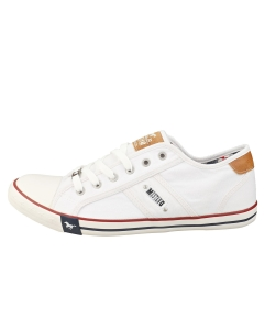 Mustang LACE UP LOW TOP Men Casual Trainers in White