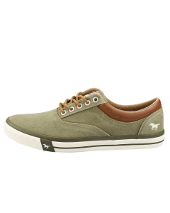 Mustang LACE UP LOW TOP Men Casual Trainers in Khaki