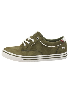 Mustang LACE UP LOW TOP Men Casual Trainers in Olive