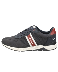 Mustang LACE UP LOW TOP Men Casual Trainers in Navy
