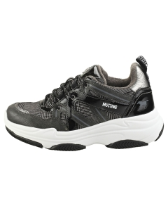 Mustang LACE UP LOW TOP SNEAKER Women Platform Trainers in Graphite