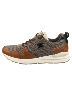 Mustang LACE UP LOW TOP STARS Women Fashion Trainers in Cognac