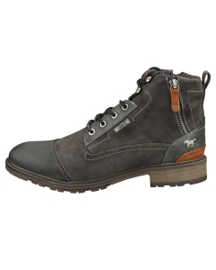 Mustang LACE UP SIDE ZIP Men Casual Boots in Graphite