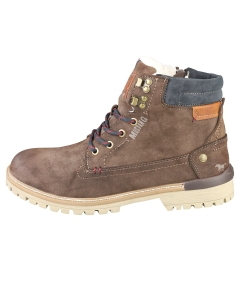 Mustang LACE UP SIDE ZIP Men Chukka Boots in Coffee