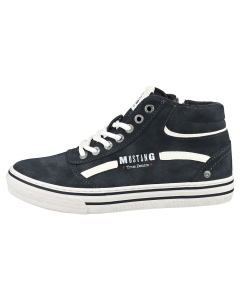 Mustang LACE UP SIDE ZIP MID Women Casual Shoes in Navy