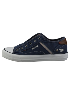 Mustang LACELESS LOW TOP Women Casual Trainers in Dark Blue