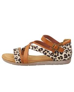 Mustang LOW TOP SANDALS Women Walking Sandals in Cognac Leopard