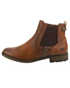 Mustang SIDE ZIP LOW HEEL Women Chelsea Boots in Cognac