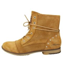 Mustang SIDE ZIP LOW HEEL Women Ankle Boots in Cognac