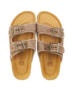 Natural World BIO ENZIMATICO Women Walking Sandals in Beige
