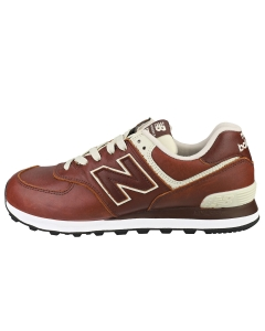 New Balance 574 Men Casual Trainers in Mahogany