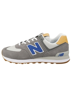 New Balance 574 Men Casual Trainers in Grey Blue