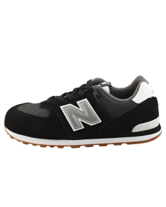 New Balance CLASSIC 574 Kids Casual Trainers in Black Silver