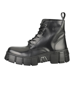 New Rock ANKLE BOOT BLACK TOWER Unisex Platform Boots in Black