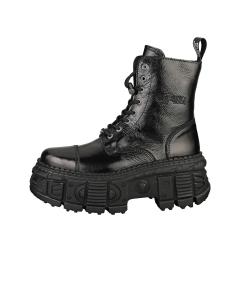 New Rock BLACK TANK ZIP Unisex Platform Boots in Black