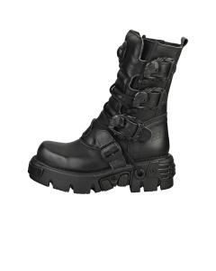 New Rock BOOT METALLIC M-391-S18 Unisex Platform Boots in Black