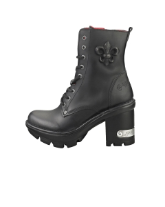 New Rock M-NEOTYRE07-S1 Unisex Ankle Boots in Black