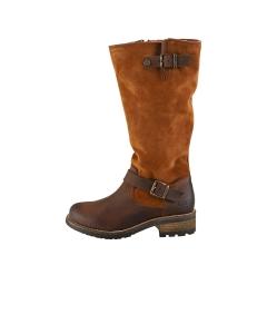 Oak & Hyde BRIDGE CESAR Women Knee High Boots in Brown Cognac