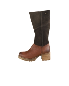 Oak & Hyde KENSINGTON HI Women Knee High Boots in Dark Brown