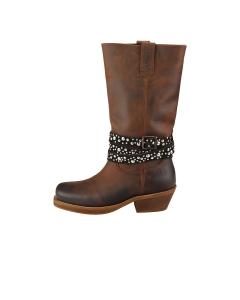 Oak & Hyde WESTSIDE CESAR Women Knee High Boots in Brown