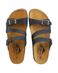 Plakton SEVILLE MID WAXY 2 Women Walking Sandals in Navy